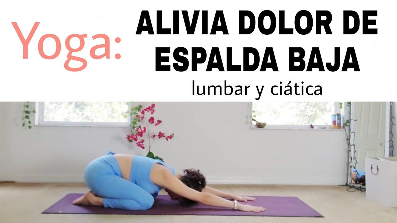 Dolor de espalda, lumbar y ciatica ✅ Yoga con Nathaly
